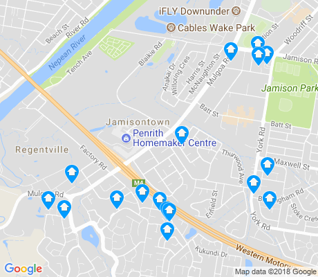 map of Jamisontown apartments for rent