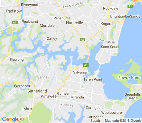 map of Kangaroo Point apartments for rent