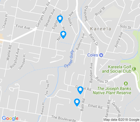 map of Kareela apartments for rent