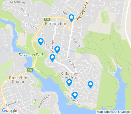 map of Killarney Heights apartments for rent