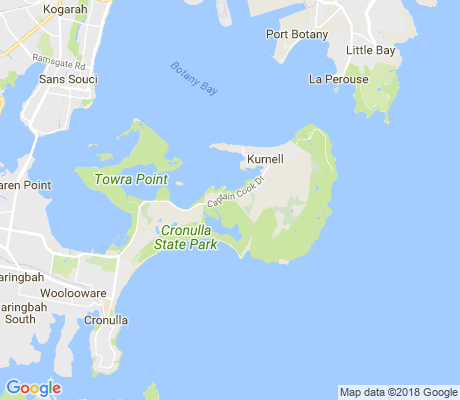 map of Kurnell apartments for rent