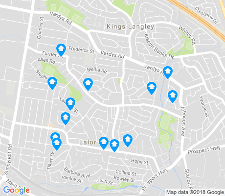 map of Lalor Park apartments for rent