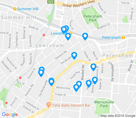 map of Lewisham apartments for rent