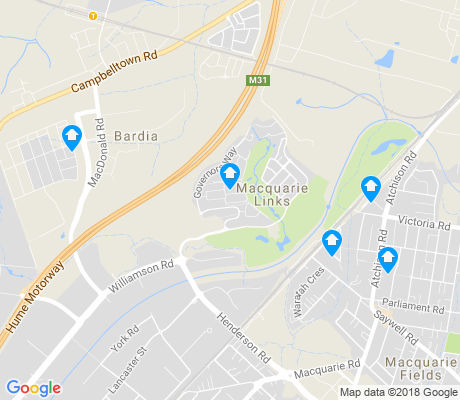map of Macquarie Links apartments for rent