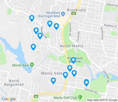 map of Manly Vale apartments for rent