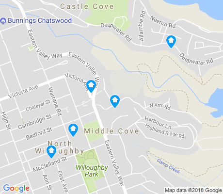 map of Middle Cove apartments for rent
