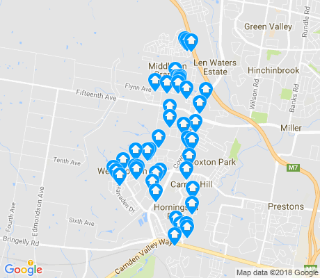 map of Middleton Grange apartments for rent