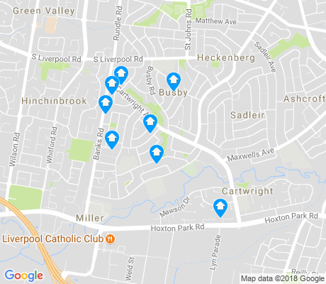 map of Miller apartments for rent