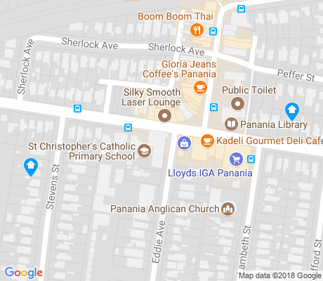 map of Milperra apartments for rent