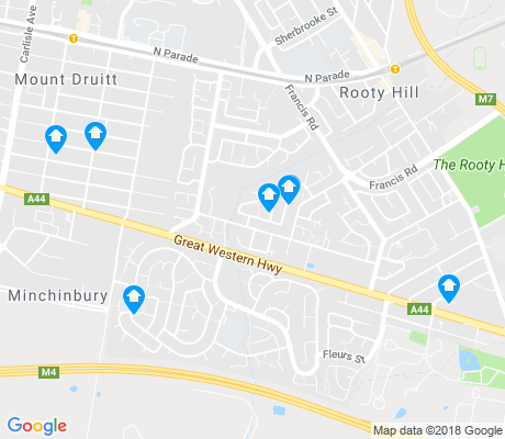 map of Minchinbury apartments for rent