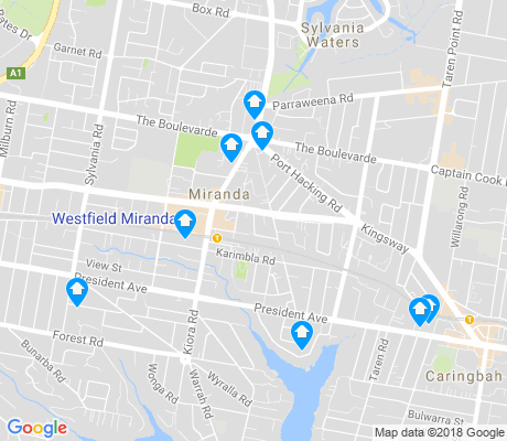 map of Miranda apartments for rent