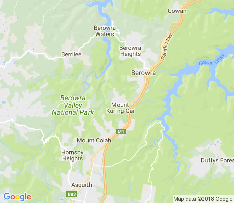 map of Mount Kuring-Gai apartments for rent