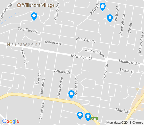 map of Narraweena apartments for rent