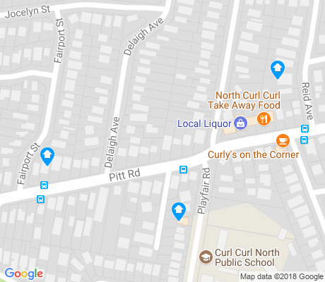 map of North Curl Curl apartments for rent
