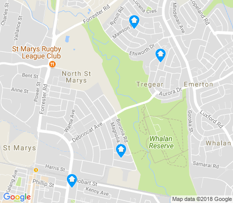 map of North St Marys apartments for rent