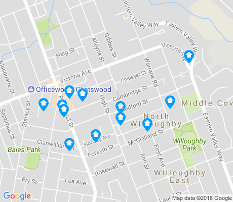 map of North Willoughby apartments for rent