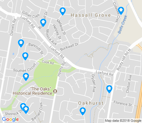 map of Oakhurst apartments for rent