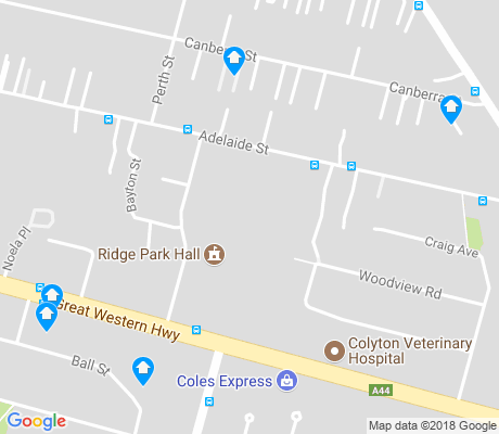 map of Oxley Park apartments for rent