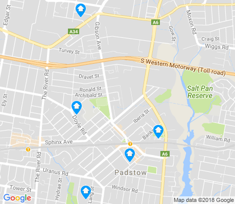 map of Padstow apartments for rent