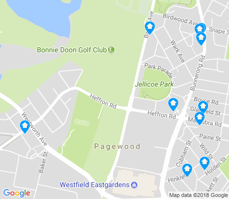map of Pagewood apartments for rent