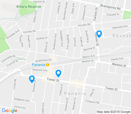 map of Panania apartments for rent