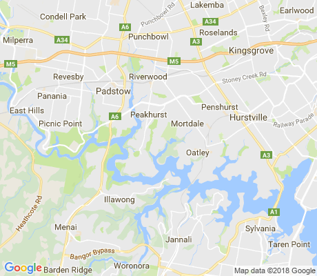 map of Peakhurst Heights apartments for rent