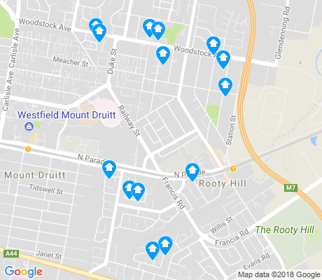 map of Rooty Hill apartments for rent