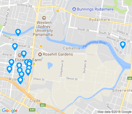 map of Rosehill apartments for rent