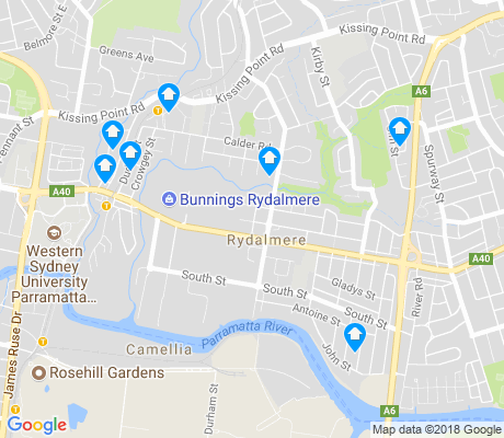 map of Rydalmere apartments for rent