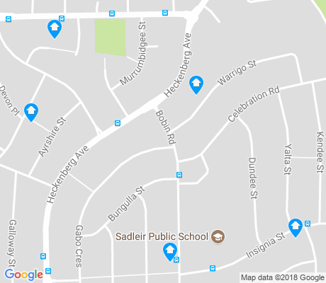 map of Sadleir apartments for rent