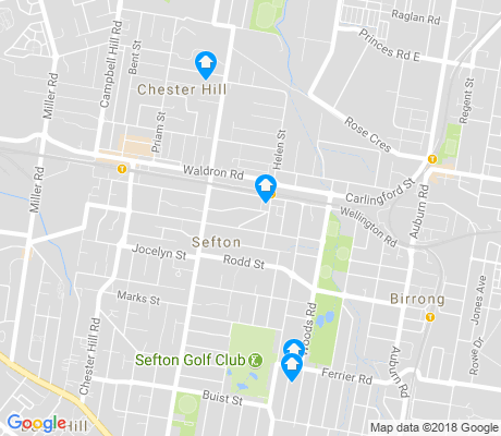 map of Sefton apartments for rent