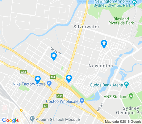 map of Silverwater apartments for rent