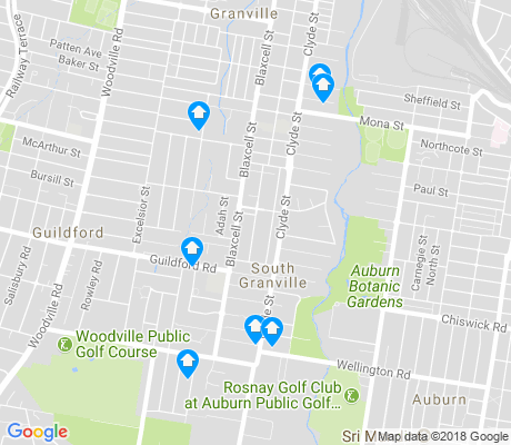 map of South Granville apartments for rent