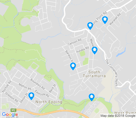 map of South Turramurra apartments for rent