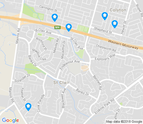 map of St Clair apartments for rent