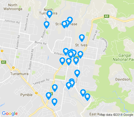 map of St Ives apartments for rent