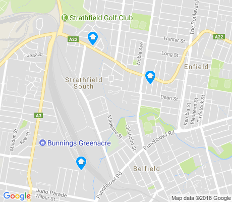 map of Strathfield South apartments for rent