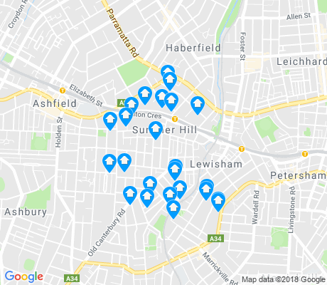 map of Summer Hill apartments for rent