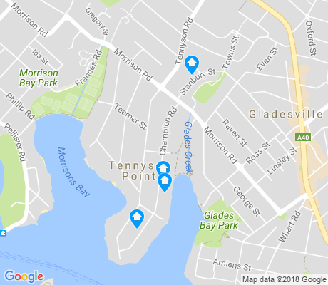 map of Tennyson Point apartments for rent