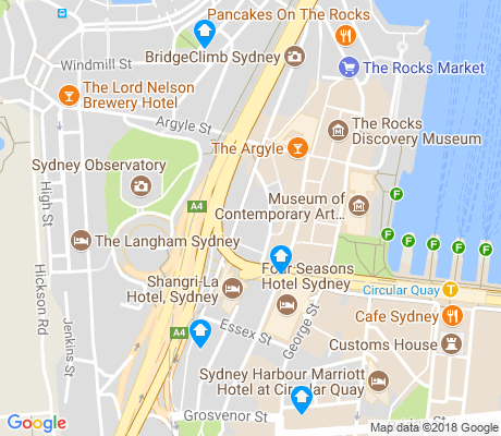 map of The Rocks apartments for rent