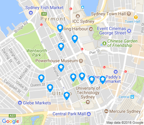 map of Ultimo apartments for rent