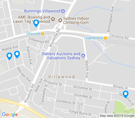 map of Villawood apartments for rent