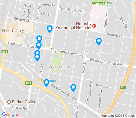 map of Waitara apartments for rent