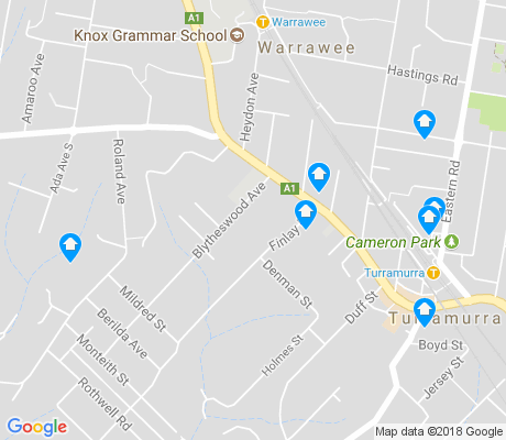 map of Warrawee apartments for rent