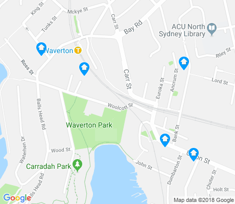 map of Waverton apartments for rent