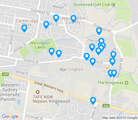 map of Werrington apartments for rent