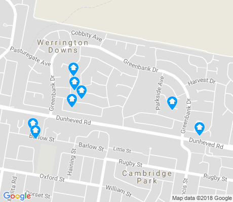 map of Werrington Downs apartments for rent