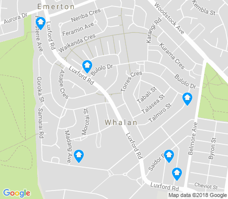 map of Whalan apartments for rent
