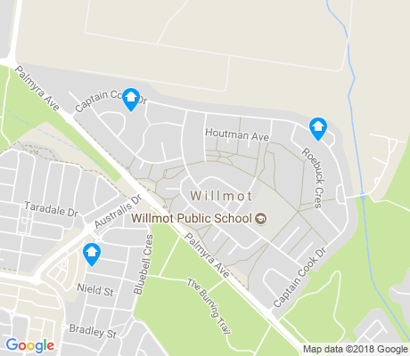 map of Willmot apartments for rent