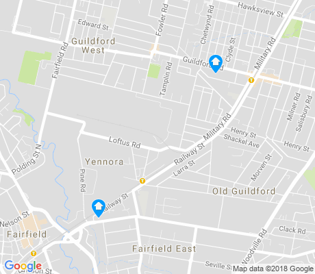 map of Yennora apartments for rent